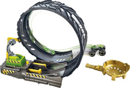 Mattel GKY00 Hot Wheels Monster Trucks Monster Loop Spielset